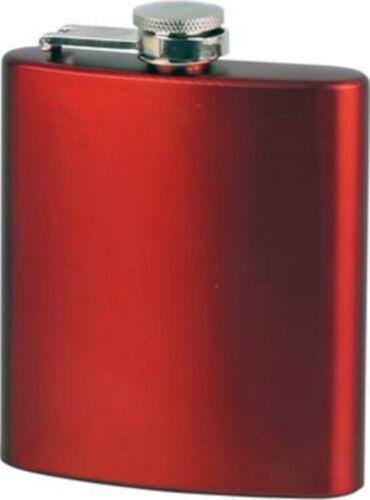 Hombre plana acero inoxidable rojo metalizado Matt 6 oz//180 ml de nuevo