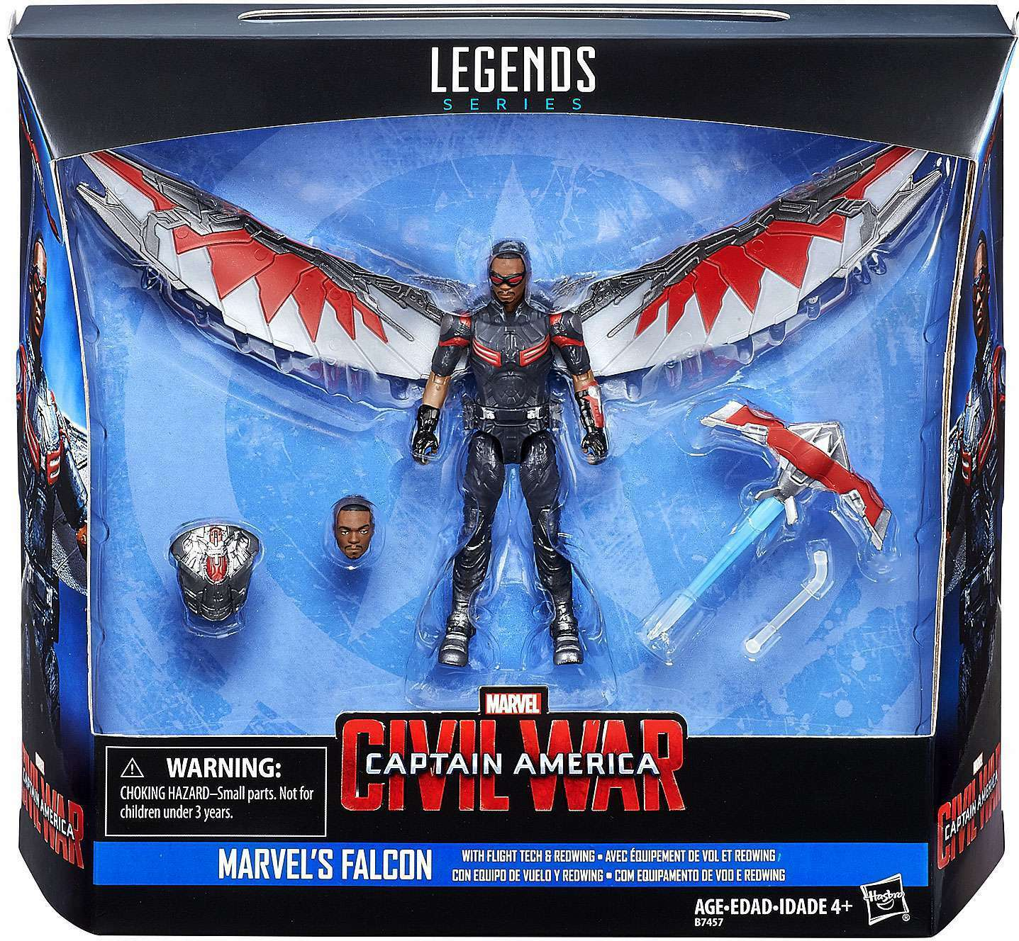 Hasbro Marvel Legends Series 3.75  Civil War Falcon Sam Wilson New X'mas Sale