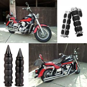"""Motorcycle 1/"""" Handlebars Hand Grips For Honda VTX1300 VTX1800 Sabre VT1100 1300"""