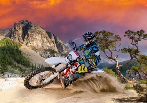 Fototapete Enduro Motorbike Racing   Tapete Vliestapete