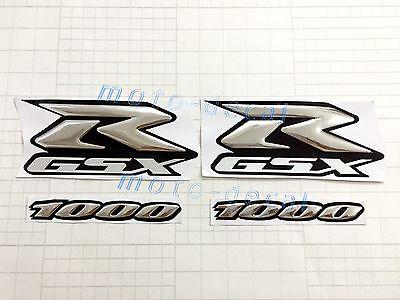 New GSXR Raised 3D Emblem Suzuki GSXR1000 Silver Decal Fuel Tank Sticker Bling
