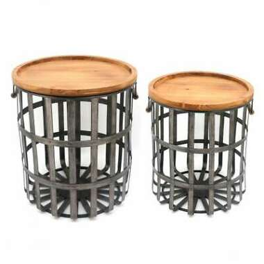2-Pack Home Decorators Collection Galvanized Metal Basket