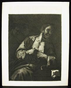 Chisel-towards-1872-after-Jose-Ribera-034-the-Monk-034-One-Fold-Beautiful-Proof