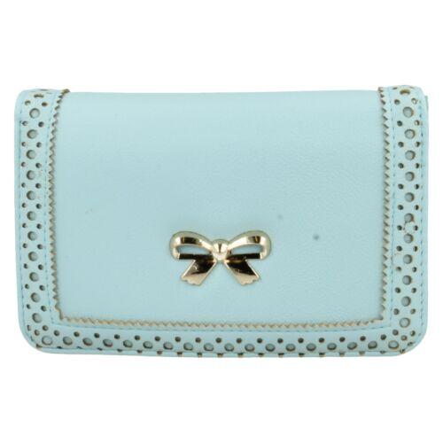 73125 femme ELLA bébé rose bleu beige nœud zip fermoir monnaie femmes filles sac à main