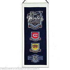 2016 NHL WINTER CLASSIC WOOL MINI BANNER BOSTON BRUINS VS MONTREAL CANADIENS 1/1