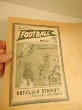 scrap book page: 1949 Pineapple Bowl program cover/ Honolulu Stadium
