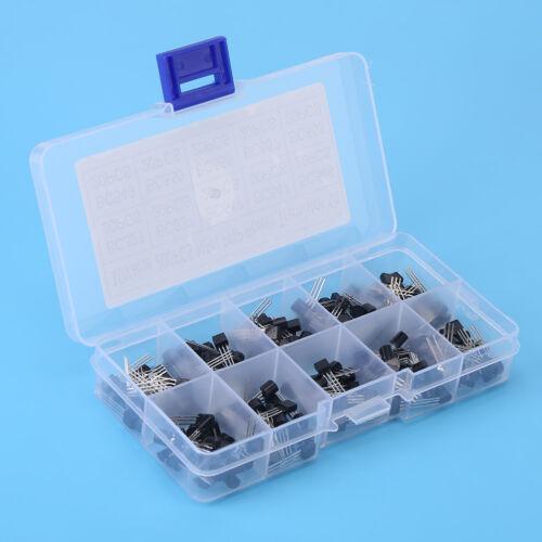 200pcs 10 Values BC327-BC558 TO-92 Transistor Assortment NPN PNP DIY Kit Box MF