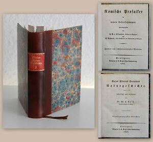 Plinius-Secundus-Naturgeschichte-1854-Bd-24-25-Roemische-Prosaiker-Botanik-xz