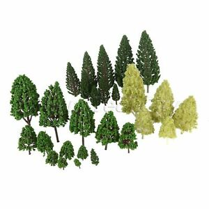 27-HO-O-Scale-Mixed-Model-Trees-Train-Railway-Architecture-War-Game-Park-Scenery