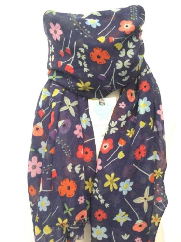 BLUE BLOSSOM FLOWER SCARF QUIRKY FLOWERS GIFT WRAP MUM SISTER MOTHER MAM FRIEND