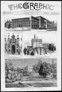 1886-Antique-Print-GERMANY-Bavaria-King-Ludwig-Munich-Schloss-Berg-211
