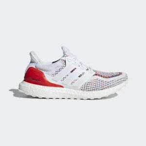 a406b090f Adidas Ultra Boost 2.0 Multicolor White Red Multi BB3911 SIZE 10.5 ...