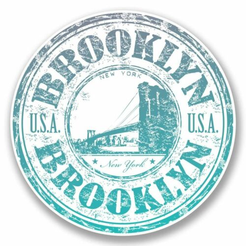 2 x Brooklyn New York Vinyl Sticker Car Travel Luggage #9713