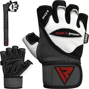 RDX-Leather-Weight-Lifting-Body-Building-Gloves-Fitness-Training-Gym-Workout-AU
