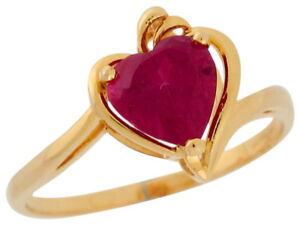 10k-or-14k-Yellow-Gold-Heart-Shaped-Simulated-Ruby-Ladies-Bypass-Chic-Ring