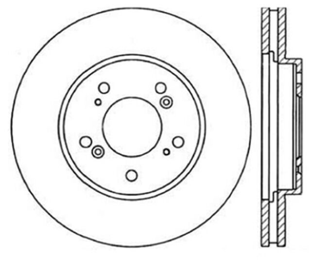 Disc Brake Rotor-Coupe Front Right Stoptech 126.40033CSR