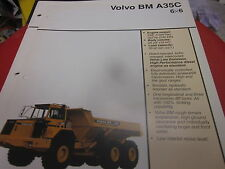 Volvo BM A35C 6X6 Articulated Truck Brochure