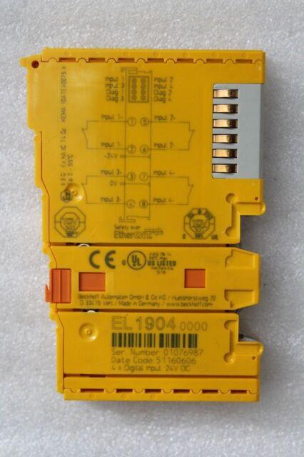 Beckhoff EL1904 4-Kanal-Digital Borne D'Entrée Twinsafe 24 V Dc IP20 Neuf