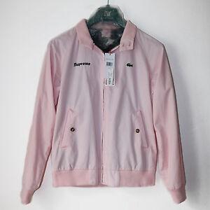 Supreme-X-Lacoste-Harrington-Veste-Jacket-Medium-Pink-Rose-Box-Logo-Bogo