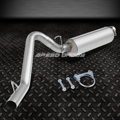 """FOR 05-10 GRAND CHEROKEE WK 3/""""PIPING ROUND MUFFLER CORE CATBACK EXHAUST SYSTEM"""