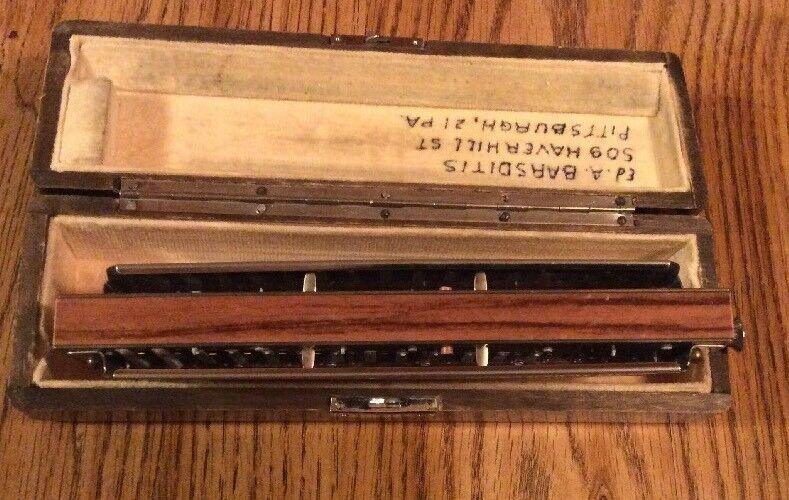 M. M. M. Hohner Chromonica 4 cromática los octavos el 64 modelo profesional utilizado clave de C 95b4dd