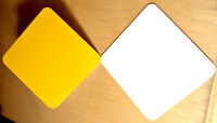 10pcs. .040 9 X 12 Gloss Caution Yellow Only -- Aluminum Sign Blank W/ Rc