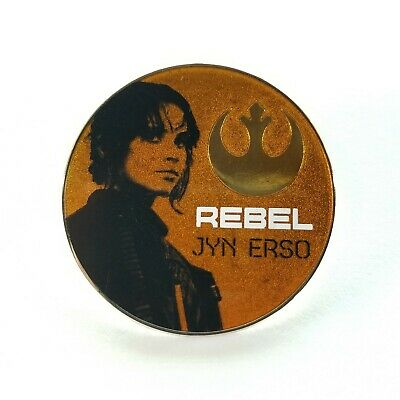 STAR WARS New on Card Trading Pin JYN ERSO REBEL Disney