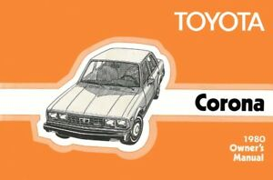 1980 toyota corona owners manual user guide reference operator book rh ebay com 1980 Toyota Corona Toyota Carina
