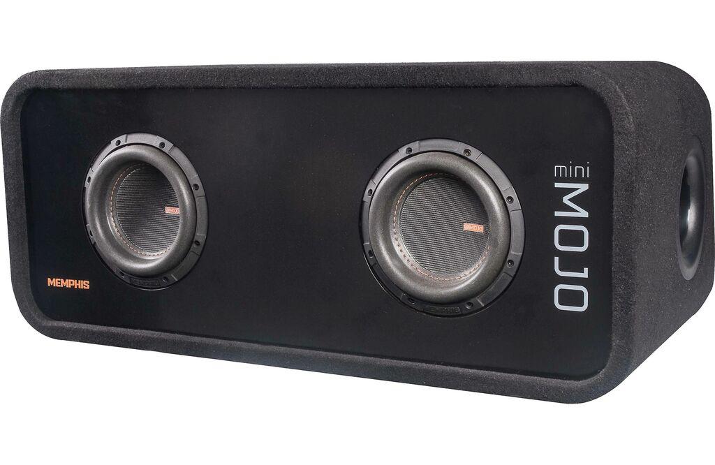 "Memphis Audio Mojo Mini Dual 6.5"" Loaded Subwoofer Enclosure   Ebay"