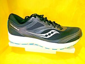 NEW-MEN-039-S-Saucony-VERSAFOAM-Cohesion-12-Grid-Black-Blue-Running-Shoes-Size-13