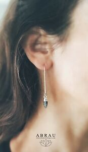 Sterling-Silver-or-Gold-Long-Threader-Labradorite-Point-Spike-Gemstone-Earrings