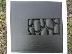 Stones in a tree Plastic Molds for 3 D Panels Plaster wall stone 3D decor wall