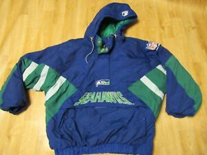 7fac32f2b Image is loading Vintage-NFL-Seattle-Seahawks-Starter-Puff-Pullover-Coat-