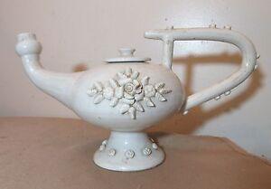 Grand Rare Antique Handmade Italien Pottery Théière en forme d'eau pichet carafe-afficher le titre d`origine QgEbUyOC-09164753-604085638