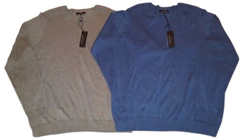 NWT MARC ANTHONY Gray Cotton Cashmere Sweater Mens 3XLT