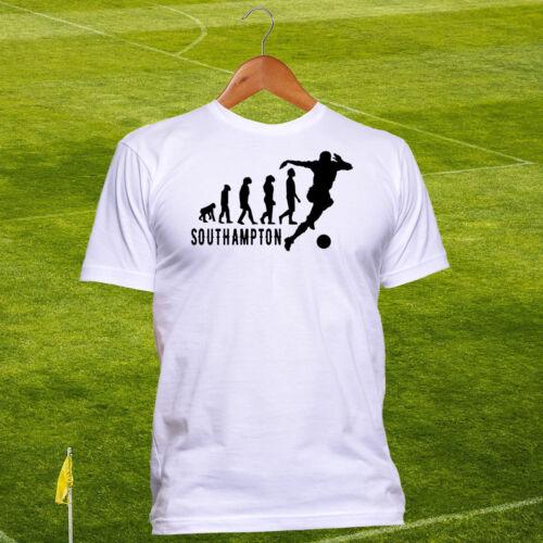 Cotton Southampton United FC Football T-shirt The Saints Evolution Tshirt