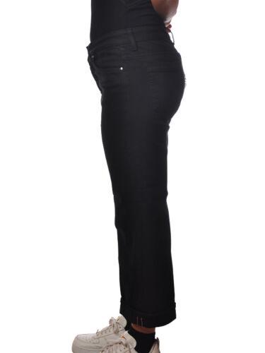 pantaloni Jeans Nero Donna 5164817l183957 Dritta Gamba Dondup 4Zx8Hx
