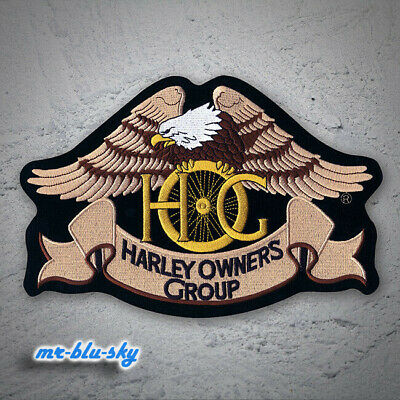 Small Reflective Eagle Patch ~ Harley Davidson Owners Group H.O.G.