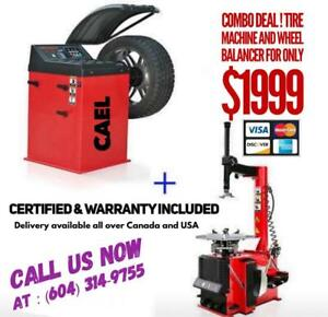 Combo deal ! New Tire machine , Tire changer and Wheel balancer Certified & Warranty included Canada Preview