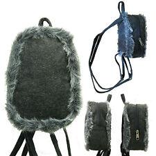Fur Mini Backpack Girls Student Rucksack Fashion Women School Small Bag Purse