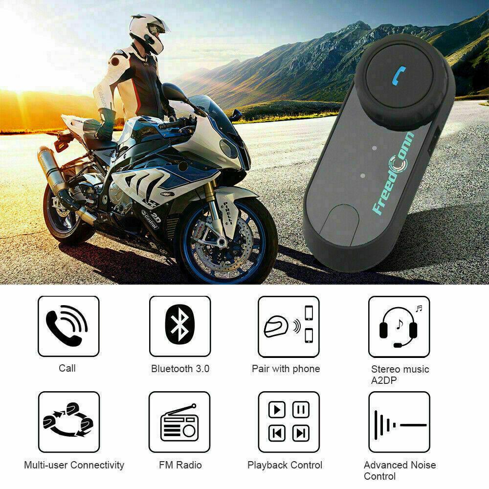 TCOM-VB 800M BT Motorbike Helmet Bluetooth Intercom System Motorcycle Headset FM