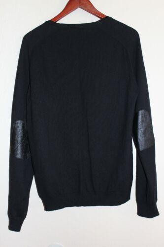 Nuevo codo Joe's cachemira de Jersey de cuero de Jeans Suéter Detalle negro L algodón de 0HrO0gxq