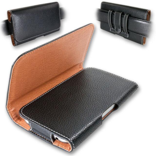 Quertasche für Apple Schutz Handy Case Seiten Gürtel Tasche Etui Clip Wallet