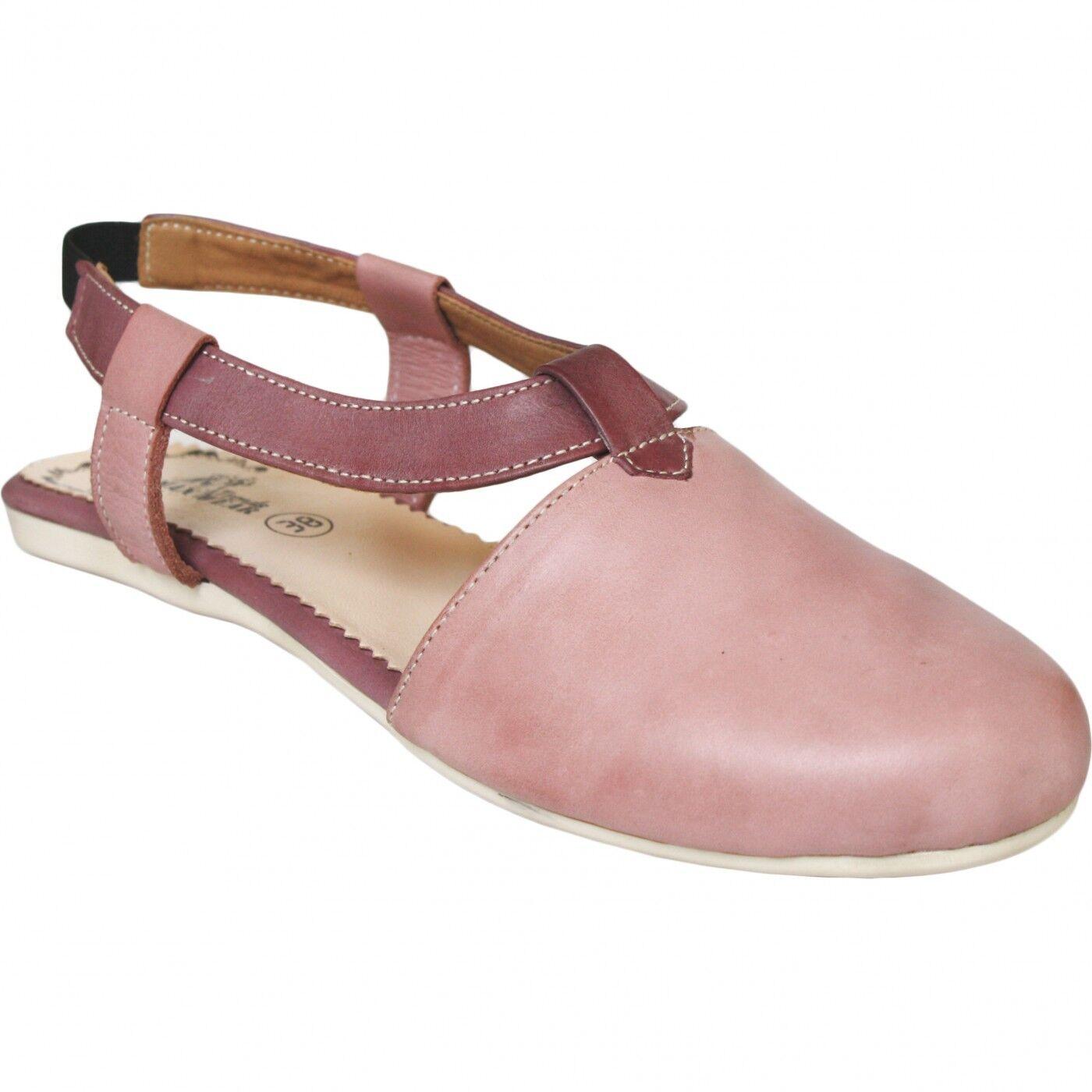 German Wear, Geschlossene Sandale aus echtem Leder lederschuhe Trendschuhe pink