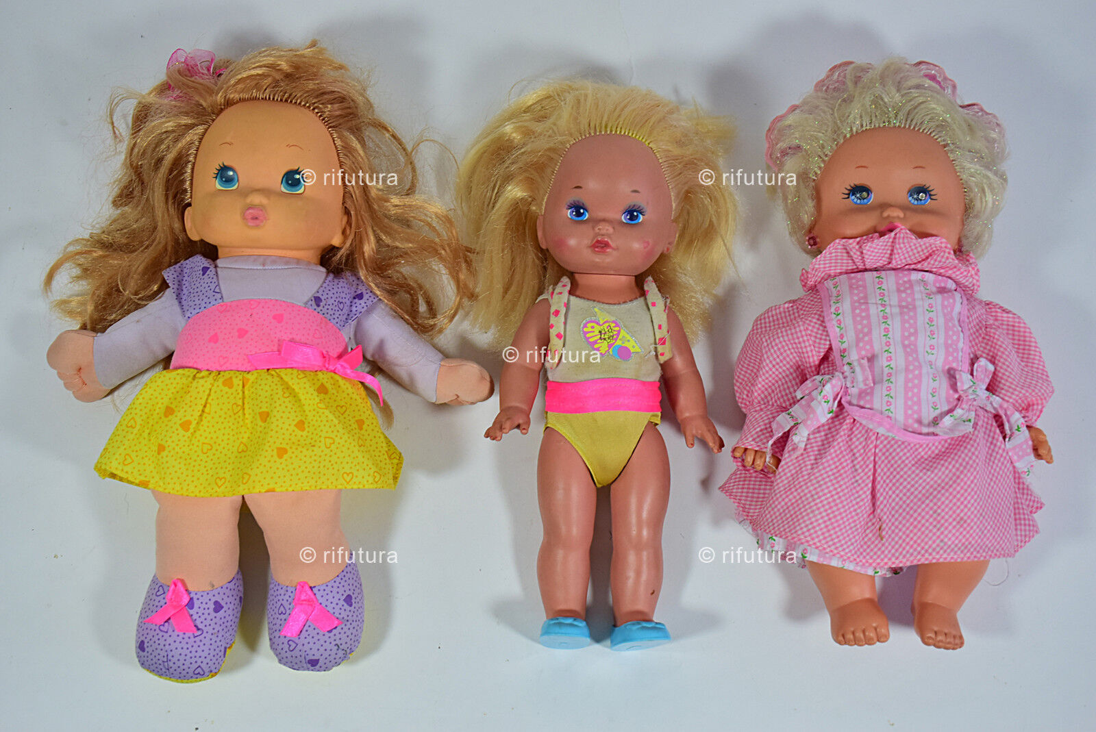 Lotto Bambole Cap Toys 1993 Mattel  BabyTwinkles+ Miss Make UP  H38/33/36cm-1S3