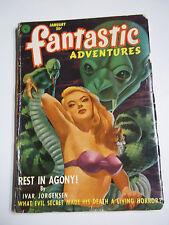 Fantastic Adventures Vol. 14 No. 1 January 1952 Science Fiction Pulp Magazine