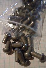 """50 Steel Round Head Rivets 1/4  x 1/2"""" Steampunk Blacksmith industrial art"""