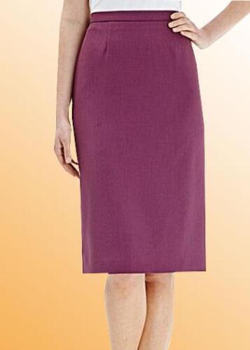 Plus Size 20 Reino Unido púrpura elegante trabajo de oficina perfecto approx. 63.50 cm Señoras falda lápiz L 25 in