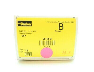 "Front Ferrule 1//8/"" Tube OD Parker A-Lok 2FF2-B Brass Compression Tube Fitting"