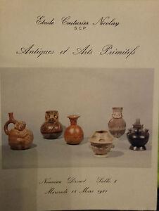 1981 Catalogue Di Vendita Illustre Drouot Antico E Arti Primitivo